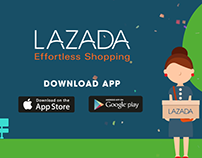 Motion graphic - Lazada mobile app