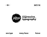 Inktober 2018 - Expressive Typography