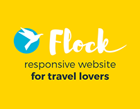 Flock - is a simple bright website for adventurers