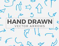 Free Hand Drawn Vector Arrows