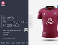 Men's Soccer Jersey Mockup V6