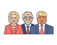 Spot Illustrations: Presidential Candidates