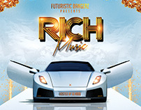 Rich Music | Mixtape Tape Album Cover CD Template