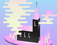 Smoky church