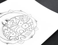Hippie Logo Retro Style