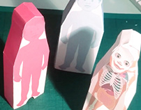 PAPERTOY for Lume Livros: THE HUMAN BODY