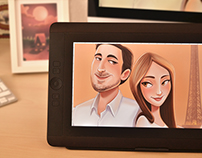 Lovely couple. Character design