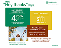 M&T Bank Microsites + Banners