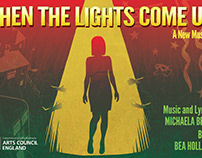 'When the lights come up', theatre poster