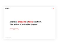 Manifest x Web concept / #365designdays