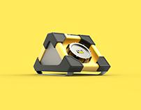 SoundBox, radio by Caterpillar (Student project)