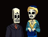 Grim Fandango Pixel Art