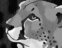 Running Cheetah RUNCHEE illustration