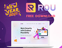 Rou - Startup & Agency Landing Page PSD Free Download