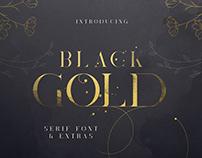 Black Gold serif font + Extras