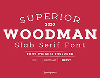 Woodman Slab Serif Font