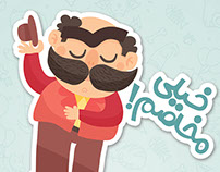 HOUSHANG KHAN STICKER PACK FOR RINGID APP