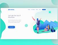 Hiking Landing Page / Web Design, UI/UX