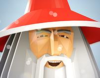 Santa Gandalf Epic Xmas