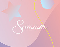 summer trending. colourful poster. trend background