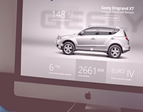 Landing page Geely