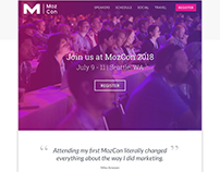 Conference Landing Page Design Concept