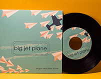 Big Jet Plane Record Cover Design