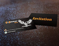 slimmer gym logo & invitation