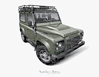 Vector Land Rover Defender