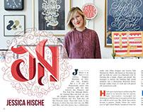 Jessica Hische Magazine Spread