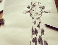 Giraffe T-Shirt Design