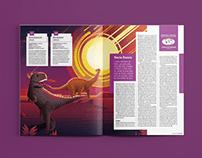 Dinossauros Brasileiros - Editorial Design