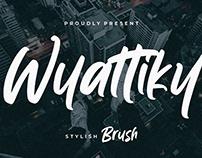 WYATTIKY STYLISH BRUSH - FREE FONT
