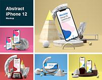 Abstract iPhone 12 Mockup