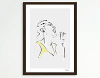 BILLIE // portrait drawing