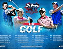 Men's Golf Poster