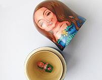 Matryoshka, a personalized souvenir