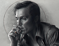 "Rust Cohle ""Time is a flat circle"""