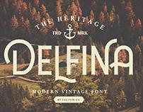 FREE | Delfina Modern Vintage Font