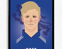 Joe Root Cricket Illustration