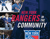 New York Rangers Community Brochure - Concept layout 1