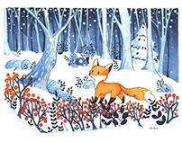 Renard sous la neige