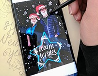 Samsung/ T-Mobile Holiday photo drawing event