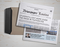 Routine Newspaper Template