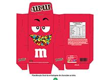 Embalagem - chocolate - m&ms