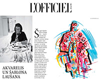 Brushpen illustrations for L'Officiel Baltics
