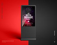 Free LCD Digital Signage Mockup