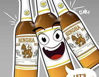 Singha Beer company design characters