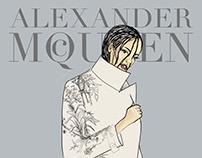 Illustrations for Alexander McQueen