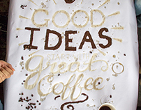Typography Poster—Coffee Painting